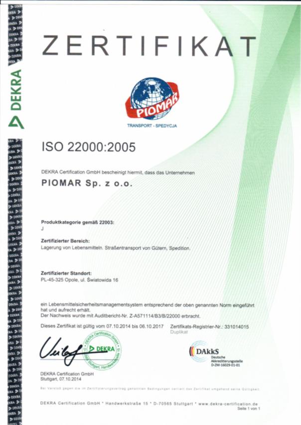 ISO 22000 DE