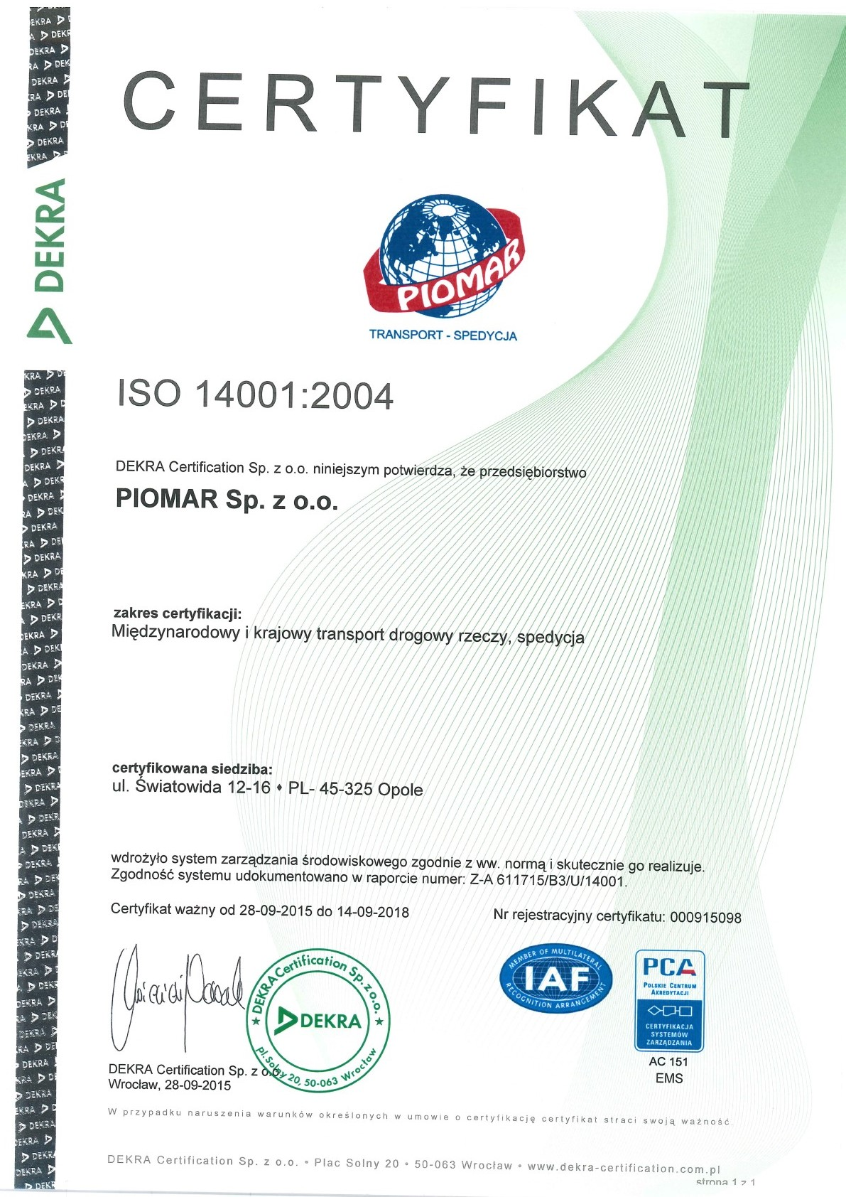 ISO14001 PL