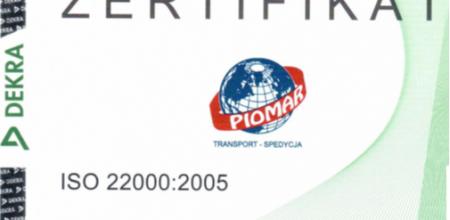 Wir erhielten das Zertifikat ISO 22000:2005!