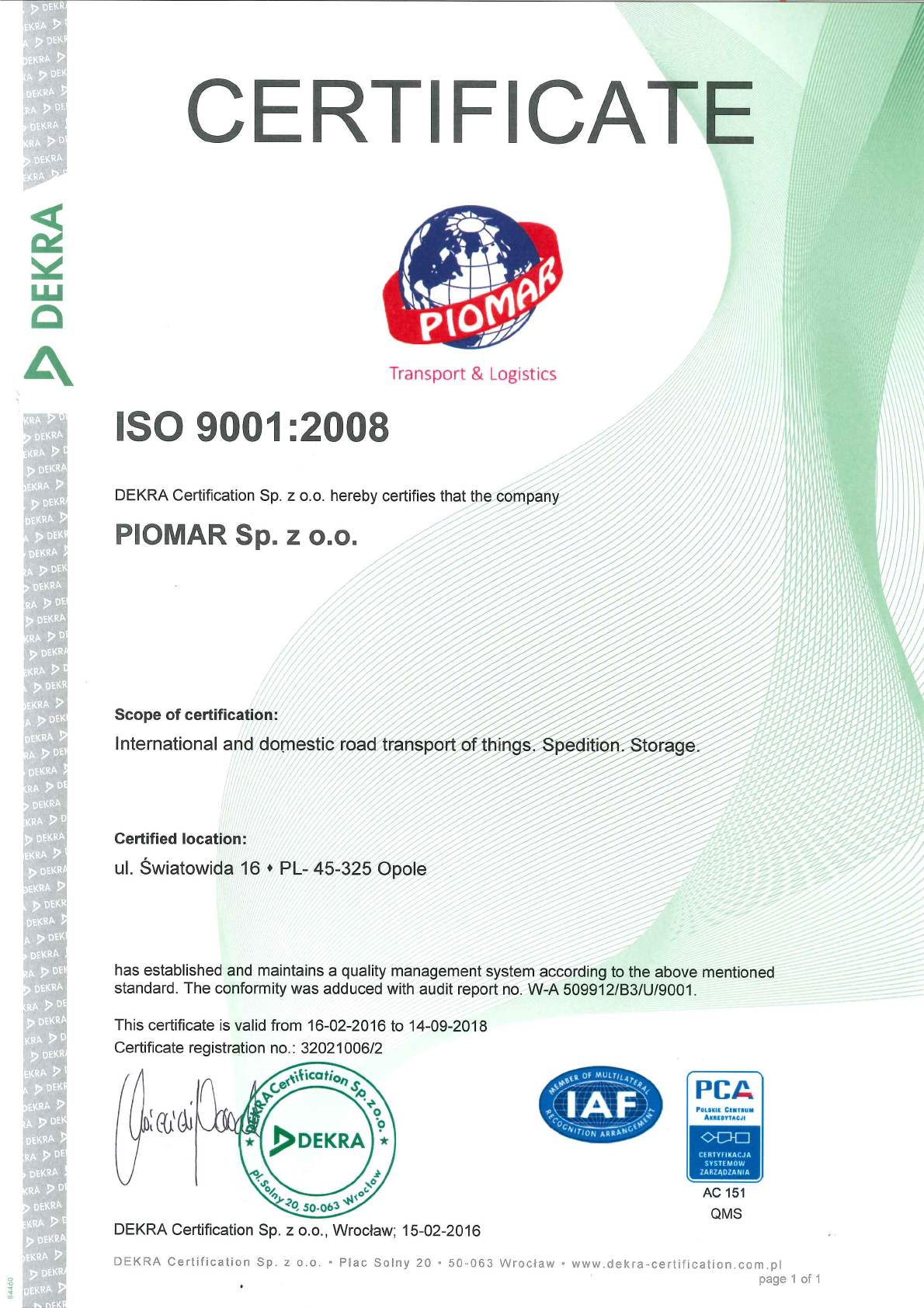 CERTYFIKAT ISO 9001 ENG NOWY