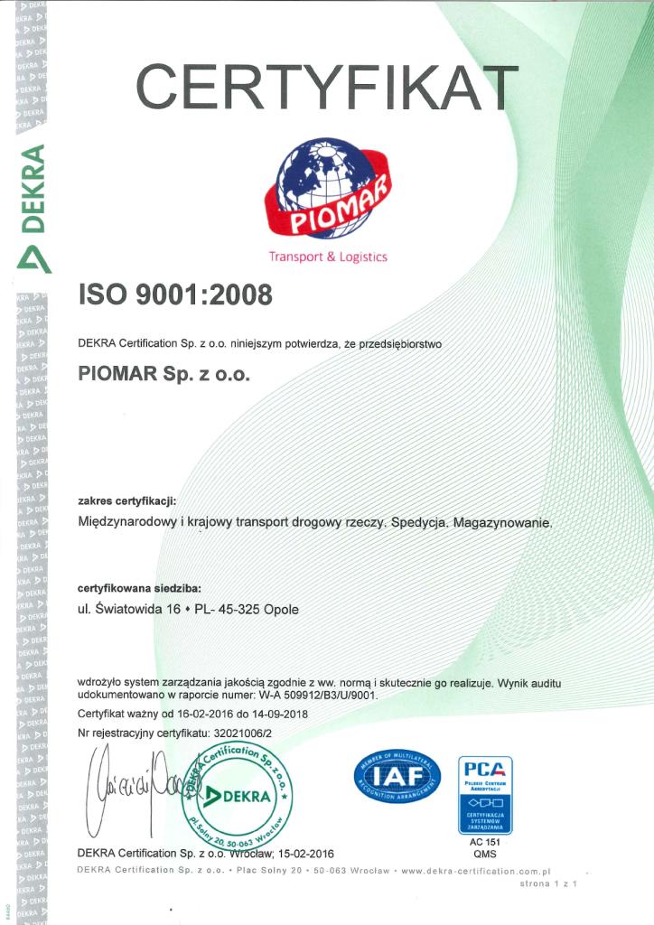 CERTYFIKAT ISO 9001 PL NOWY